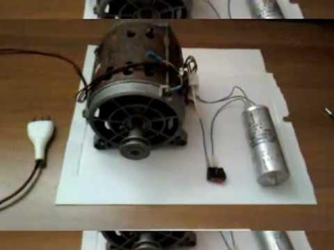 Cablaggio e funzionamento di un motore ad induzione da lavatrice