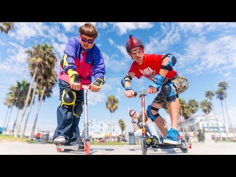 ATTENTION SKATERS. Your time is up! The Scooter boyz are here.