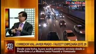 Entrevista a Paúl Concha sobre el corredor vial Javier Prado - Faucett