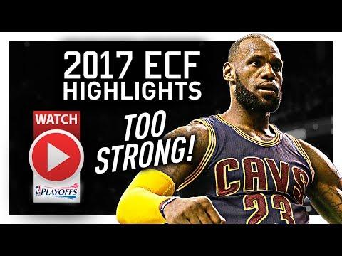 LeBron James ECF Offense Highlights VS Celtics 2017 Playoffs - TOO STRONG!
