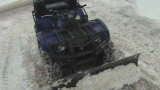 5. Plowing with ATV (Yamaha Kodiak 450)