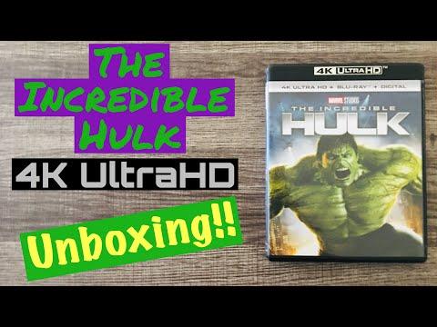The Incredible Hulk 4K UltraHD Blu-Ray Unboxing Marvel Studios MCU Avengers Edward Norton