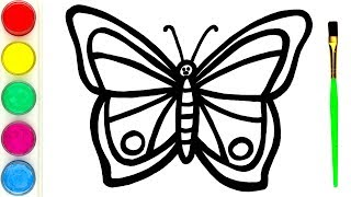 Rainbow Butterfly Warna-Warni Belajar Menggambar dan Mewarnai untuk Anak