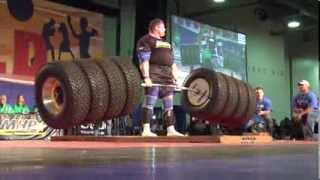 A new world record has been set for the deadlift at the 2014 Arnold Strongman by Zydrunas Savickas at 1155 pounds.
