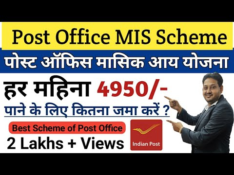 Post Office Monthly Income Scheme | Post Office MIS Interest Rate | Hindi
