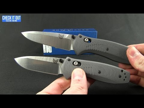 "Benchmade Mini Barrage AXIS-Assist Knife Gray G-10 (2.91"" Satin) 585-2"