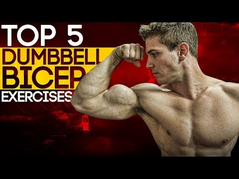 Top 5 Dumbbell Bicep Exercises! Build Muscle & Strength!