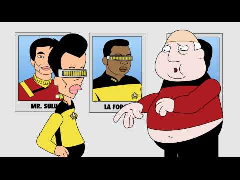 Beam Me Up, Mr. Chan! - funny cartoon star trek