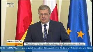 27.03.2012 - Joachim Gauck podczas wizyty w Polsce