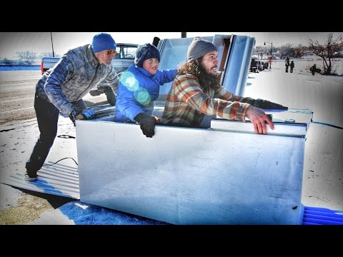 Extreme Snow Sledding Using a Refrigerator