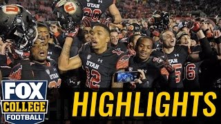 (24) Utah wins with late TD from Troy Williams to Tim Patrick - 2016 College Football Highlights by FOX Sports