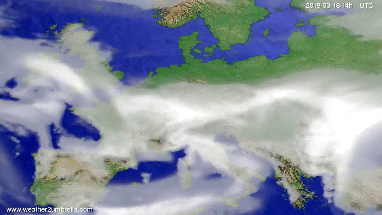 Cloud forecast Europe 2018-03-16