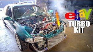 $600 EBAY TURBO CIVIC SHOOTING FLAMES!! (Dyno Day) by Evan Shanks
