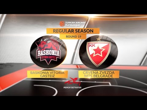 EuroLeague Highlights RS Round 19: Baskonia Vitoria Gasteiz 69-87 Zervena Zvezda mts Belgrade