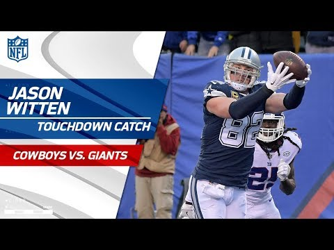 Video: Prescott's TD Pass to Witten Set Up by Beasley's Huge Catch-'n-Run | Cowboys vs. Giants | NFL Wk 14