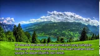 Video Surah Ar Rahman by Sheikh Mishari Rashid Al Afasy malay translation terjemahan bahasa melayu MP3, 3GP, MP4, WEBM, AVI, FLV September 2018