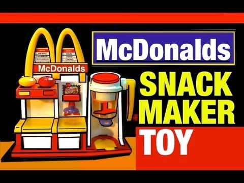toys - McDonald's Toy Hamburger Maker Playset. A Vintage McDonalds 1993 Snack Food Maker Toy Review by Mike Mozart Mike Mozart's first McDonald's Toy Review of the ...