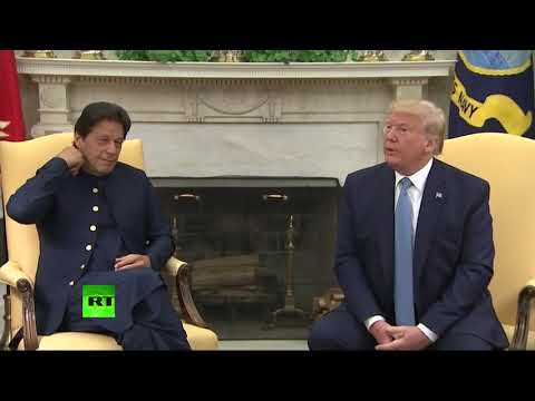 Donald Trump Welcomes Pakistani Prime Minister Imran Khan To The White House