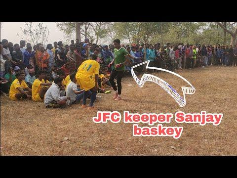 football tournament 2021at sarjomdih Odisha this match playing jfc keeper sanjay baskey