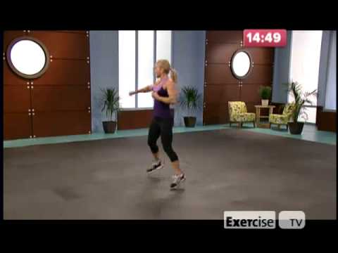 exercise - Exercise TV 10 lb Slimdown Cardio Kickboxing.