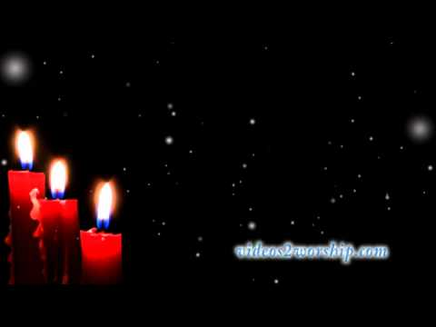 HD Christmas Candles And Falling Snow Loop