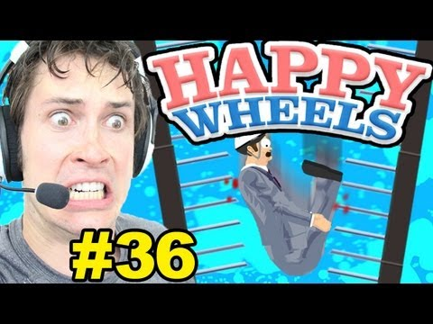 Happy Wheels - LONGEST SPIKE FALL EVER - Part 36