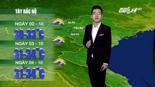 (VTC14)_  Thời tiết 12h ngày 01.10.2016, Dự Báo Thời Tiết, Dự Báo Thời Tiết ngày mai, Dự Báo Thời Tiết hôm nay