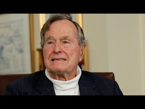 George H.W. Bush remains in intensive care