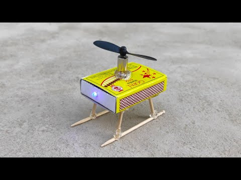 How To Make Helicopter Matchbox Helicopter Toy Diy