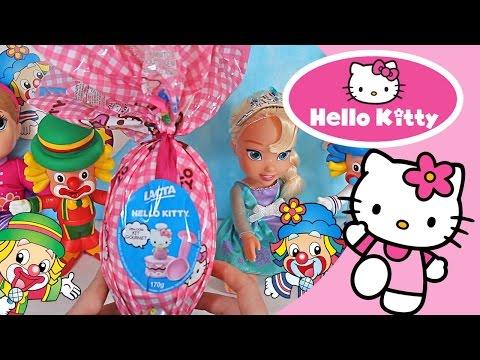 Imagens de feliz páscoa - Hello Kitty Ovo Surpresa Páscoa Patati Patatá Baby Alive Frozen Elsa Bonecas Brinquedos Video