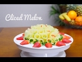 SLICED MELON - Incredibly easy to do FRUIT CENTER - JPereira Art Carving Fruits and Vegetables