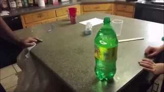 Dad Pranks Daughter With Bottle On Coin Trick