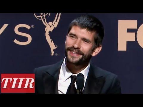 Emmy Winner Ben Whishaw Full Press Room Speech | THR