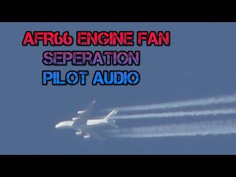 AFR66 A380 Engine Fan Seperation F HPJE Emergency Landing ATC