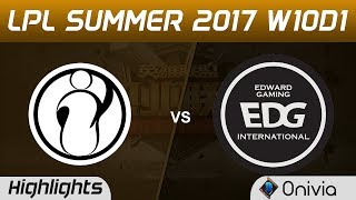 IG vs EDG Highlights Game 2 LPL SUMMER 2017 Invictus Gaming vs Edward Gaming by Onivia Make money with your LoL...
