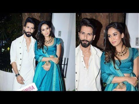 Shahid Kapoor With Wife Mira Rajput At Aamir Khan