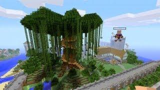 Minecraft Xbox 360 - Beautiful Giant Tree - SPANKLECHANK's World Tour - Part 5