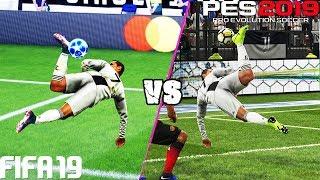 Video FIFA 19 vs. PES 2019: Fancy Finishing (Scorpion Kick, Bicycle Kick, Rabona  & More) | 4K MP3, 3GP, MP4, WEBM, AVI, FLV Januari 2019