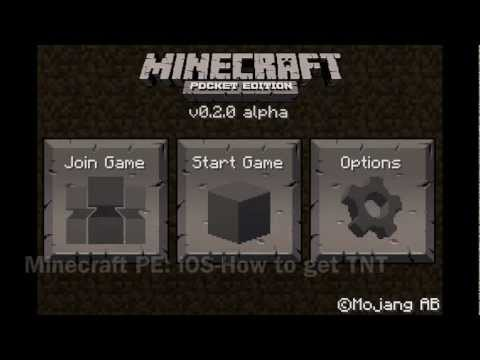 TNT in Minecraft Pocket Edition for iPhone: Tutorial