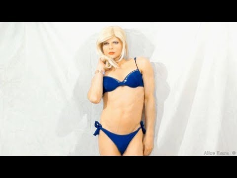 Alice Trans Shemale Transgender In Blue Bikini