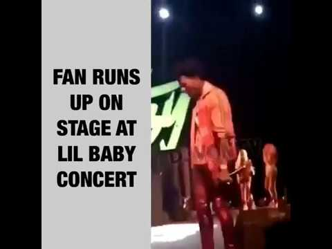FAN RUN ON STAGE AT LIL BABY CONCERT!!!!!