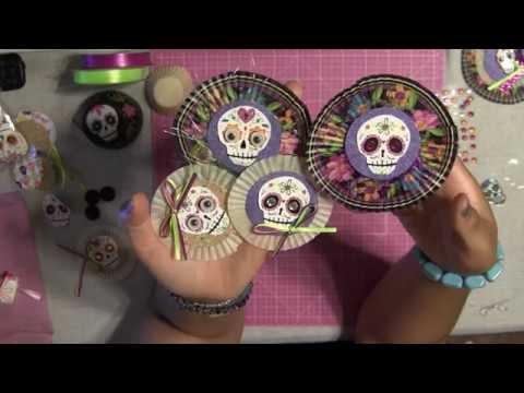 #20 Let's Make Halloween Day Of The Dead Embellishment - Dia De Los Muertos
