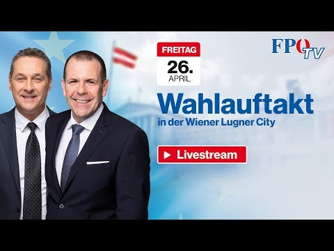 Komplettaufzeichnung: FPÖ-EU-Wahlauftakt mit HC Strache und Harald Vilimsky!