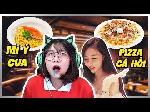 Misthy và chị gái ăn Pizza cá hồi, Mì Ý Cua sang chảnh || WHAT THE FOOD - Thời lượng: 9 phút, 56 giây.