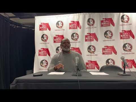 Haggins talks FSU win over Boston College