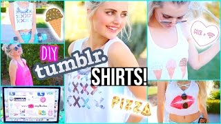 DIY Tumblr T-Shirts for Spring! | Aspyn Ovard - YouTube