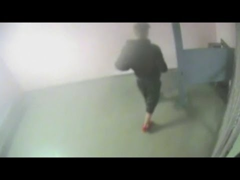 footage - Subscribe to TheShowbiz411! http://bit.ly/1dXOPuV Miami Beach Police have released a video of Justin Bieber giving a urine sample while in custody following ...