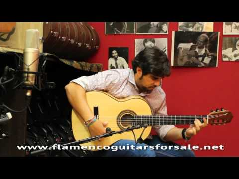 José A. Fuentes 2015 flamenco guitar for sale played by Manuel Valencia