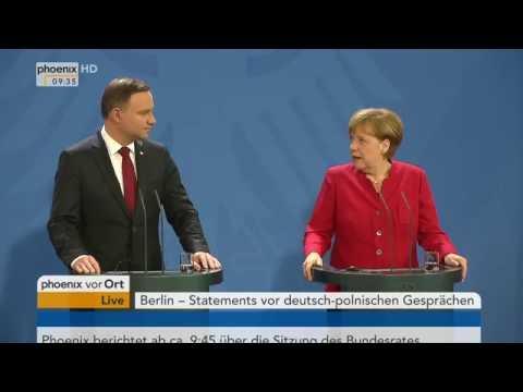Deutsch-polnische Freundschaft: Angela Merkel und Andrzej Duda geben Pressekonferenz am 17.06.2016