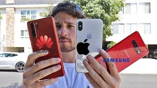 iPhone X vs HUAWEI P30 vs SAMSUNG S10 | Review